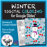 Winter Distance Learning Digital Coloring Pages for Google