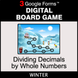Winter: Dividing Decimals by Whole Numbers - Digital Board