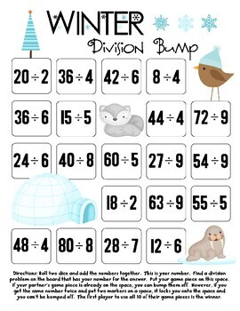 Winter Division Bump Games