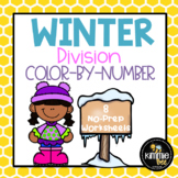 Winter Division Color-By-Number Worksheets