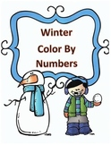 Winter Math Division Color by Numbers