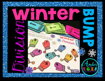 Winter Division Facts Game - Division Bump for Facts 1-12
