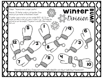 Division Games - Winter Theme for Division Facts 1-12