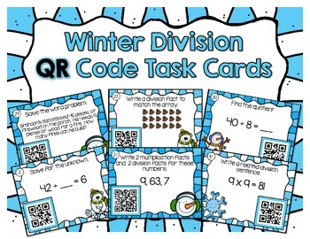 Winter Division QR Task Cards