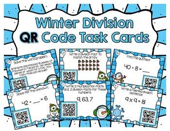 Winter Division QR Task Cards