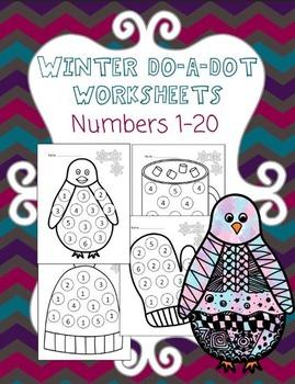 Winter Do-A-Dot Worksheets