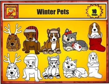 Winter Dog Clip art