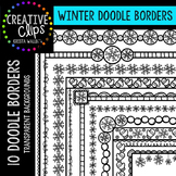 Winter Clipart Doodle Borders {Creative Clips Clipart}