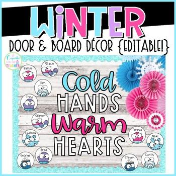 Winter Door & Board Decor {Editable!}