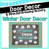 Winter Door Decor & Directed Drawing