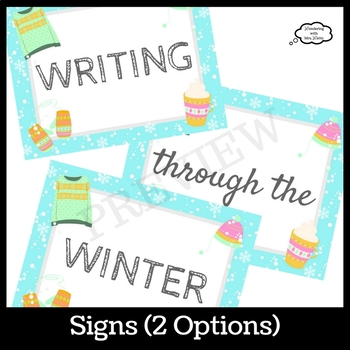Winter Door Decor Kit with Writing Prompts