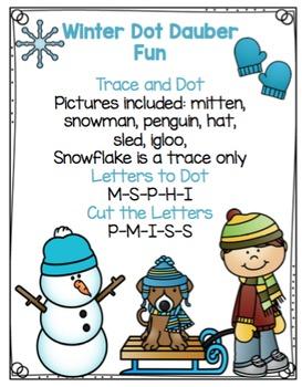 Winter Dot Dauber Fun