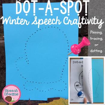 Winter Dot a Spot Speech Therapy Pin Art Craft