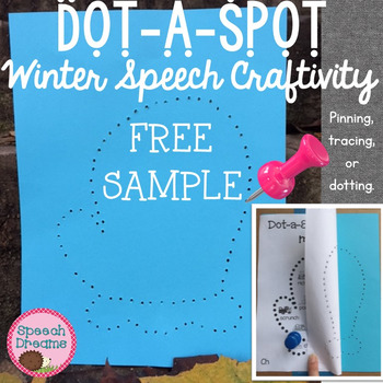 Winter Dot a Spot Speech Therapy Pokey Art Craft FREEBIE