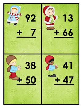 Winter Double Digit Addition