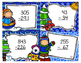 Winter Double and Triple Digit Subtraction with Regrouping Scoot Task Cards