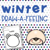 Winter Draw-A-Feeling Elementary School Counseling Feelings Activity