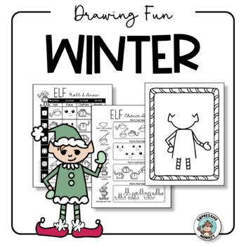 Art Activity: Winter Drawing Fun {Easy Art Sub Plan}