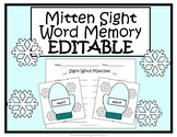 Winter EDITABLE Sight Word Game {Mitten Sight Word Memory}