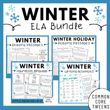 Winter ELA Bundle (Upper Elementary and Middle School)