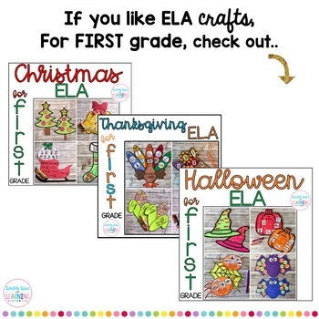 Winter ELA Craftivities for 1st Grade (digraphs, syllables, sight words & more!)