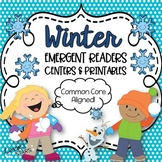 Winter ELA & Math Emergent Readers BUNDLE