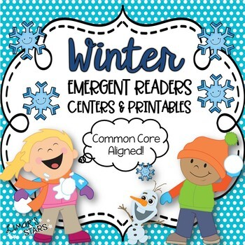 Winter ELA & Math Emergent Readers BUNDLE