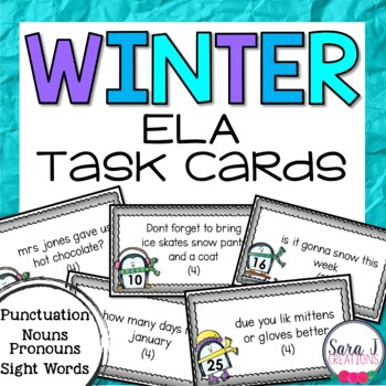 Winter ELA Task Cards