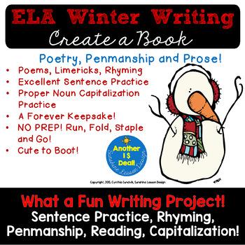 Winter ELA Writing, Poetry, Prose, Vocabulary! A Student F