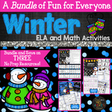 Winter ELA and Math Activities Bundle