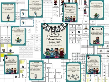 Winter ELA and Math Centers