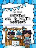 Winter ELA and Math Centers (10 NO PREP Centers)
