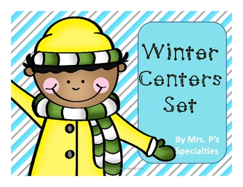Winter ELA and Math Centers Bundle