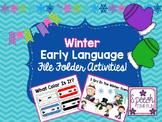 Winter Early Language File Folder Activities