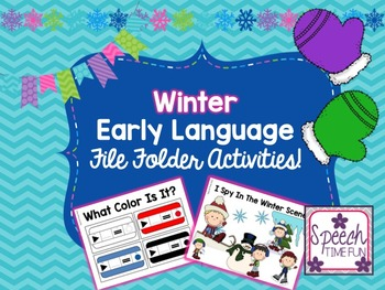 Winter Early Language File Folder Activities