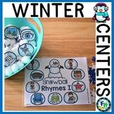 Winter Kindergarten Math & Literacy Centers