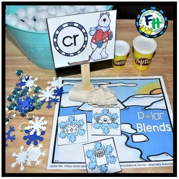 Winter Kindergarten Math & Literacy Centers