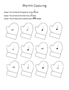 Winter Easy Music Theory Worksheets