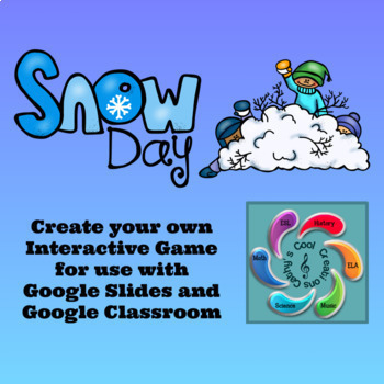 Winter Editable Interactive Game for Google Slides Create Your Own-Bundle #1