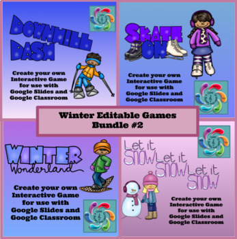 Winter Editable Interactive Game for Google Slides Create Your Own-Bundle #2