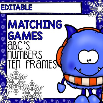 Winter Centers: Editable