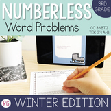 Winter Edition Word Problem Strategy-Solve Numberless Stor