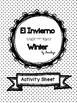 Winter ~ El invierno find, color and count activity