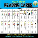 Dolch Sight Words Fluency Reading Cards | Homework Practice - Winter Theme