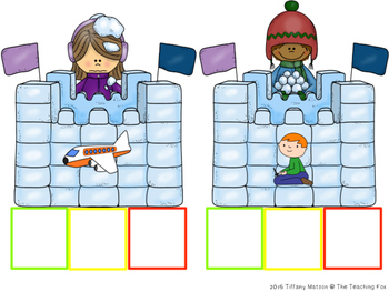 Winter Word Work {Elkonin Boxes}