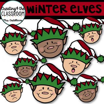 Elves Clip Art {Holiday Clip Art}