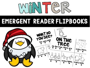 Winter Emergent Reader Flipbooks