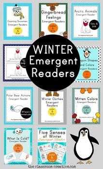 Winter Emergent Reader Mega Bundle (10 books in all)