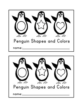 Winter Emergent Reader: Penguin Colors and Shapes