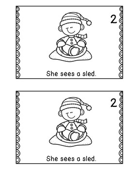 Winter Emergent Reader -she sight word